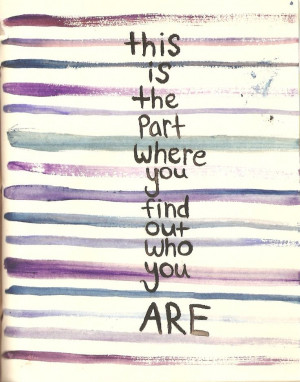 Find out who you are.