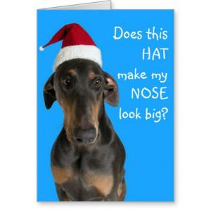 funny_dog_with_santa_hat_christmas_card ...