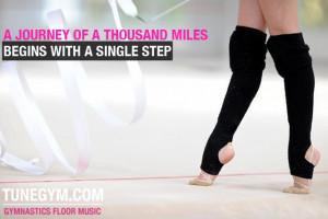 Rhythmic Gymnastics motivational poster @ Gymnastics Floor Music
