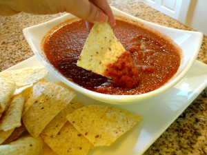 Isn't salsa wonderful? Easy peasy. Full of flavor. Relatively healthy ...