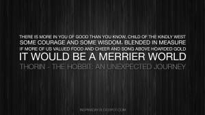 inspiraday:Quote About Wisdom and Courage from The Hobbit: An ...