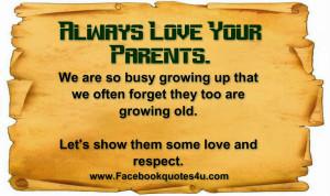 Always Love Your Parents.