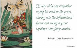 Fairy Quote fairy armies Robert Louis Stevenson