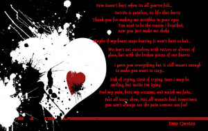 Pain Doesn't Hurt Emo Quote wallpaper abckground