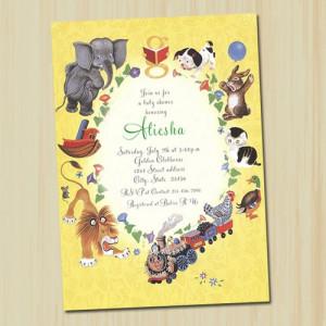 Golden Book Baby Shower Invitation