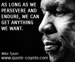 Persevere quotes - As long as we persevere and endure, we can get ...