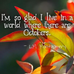 Fall, autumn, quotes, sayings, image, l.m. montgomery