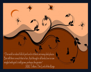 Tolkien Quote Wall Decor, Inspirational Tolkien Print