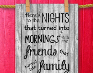 ... Print Printable Art Framed Quotes Friendship Family Sign Wall Quotes