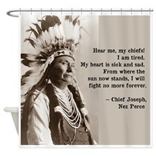 Indian Chief Shower Curtains