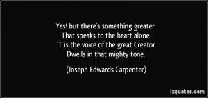 More Joseph Edwards Carpenter Quotes