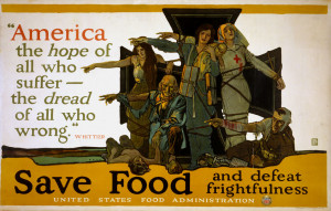 Government-produced posters urged Americans to save food during World ...