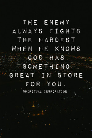 God has something great in store for you