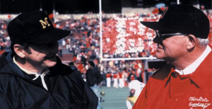 Bo Schembechler and Woody Hayes squared off in The Ten Year War from ...