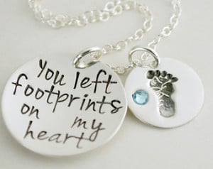 ... for Baby Girl or Baby Boy Death of Child - Memorial Necklace Baby