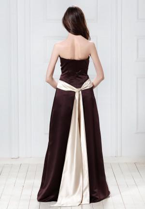 Strapless Satin Long Bridesmaid Dresses