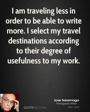 Jose Saramago Travel Quotes