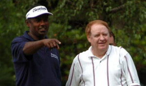 Vijay Singh gives some pointers to acting New Jersey Gov. Richard ...