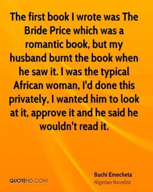 Buchi Emecheta Husband Quotes