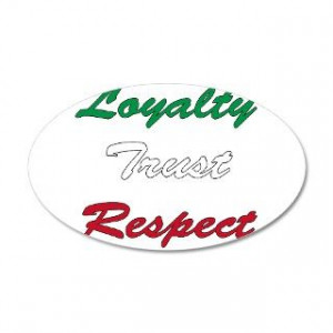 Italian Gifts > Italian Wall Decals > Loyalty trust respect 22x14 Oval