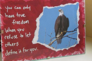 ... USA Mixed Media Art Bald Eagle With Quote in 4 by NatureAndNauticals