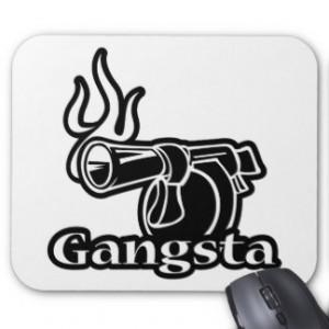 Gangsta Gangster Hip Hop Rap Mousepad