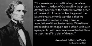 Jefferson Davis Slavery Quotes