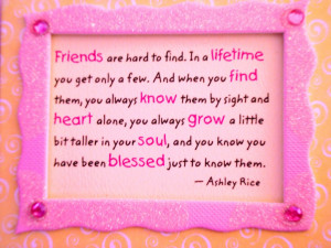 ... blessings of old friends that you can afford to be stupid with them