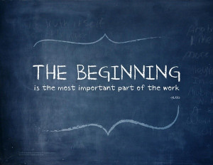 Plato, quotes, sayings, beginning, part, work, motivational