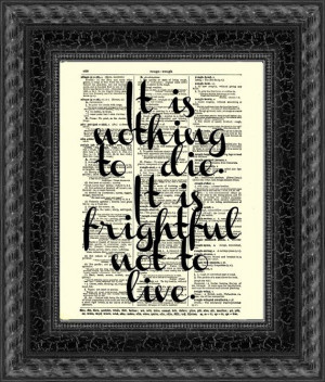 ... Les Miserables Quote, Upcycled Book Art, Wall Decor, Victor Hugo Quote