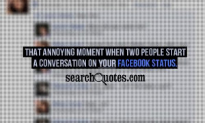 That annoying moment when two people start a conversation on YOUR ...