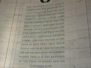 Thomas Jefferson Memorial Quotes It's a quote from jefferson,