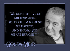 Golda Meir Quotes Golda meir