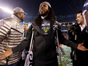 Seahawks' Richard Sherman is full of smiles, not quotes, after Super ...