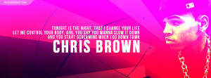 Chris Brown Sweet Love Quote Facebook Cover Picture