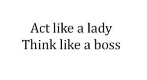 boss, lady, quotes