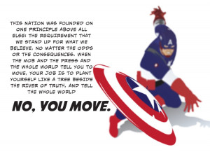 Captain America Quote Wallpaper by KlutzyDuck