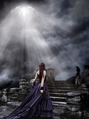 Light Angel Dark Gothic by amott128