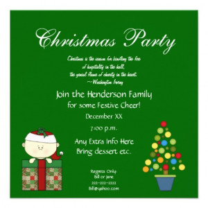 Cute Christmas Party Invitation-with Quote