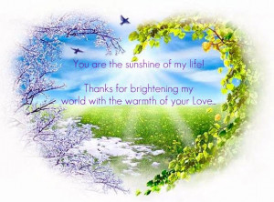 You are the sunshine of my life! [Love Quote]