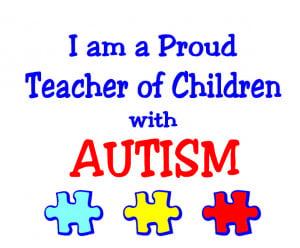 Autism Teacher T-shirts images