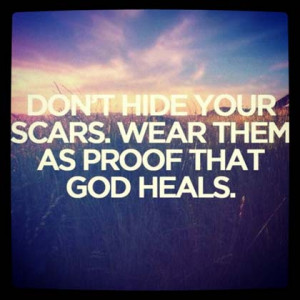 god heals christian picture quote