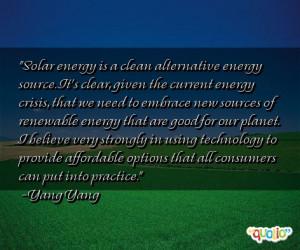 Solar energy is a clean alternative energy
