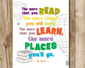 ... dr seuss wall art, dr seuss printable quote, kids room digital quotes