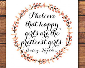 Quote Print - Audrey Hepburn Quote - Inspirational Quote - Wall Art ...