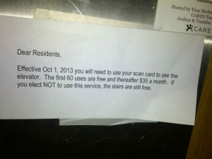 Scumbag Landlord plans on charging tenants $35 a month to use the ...