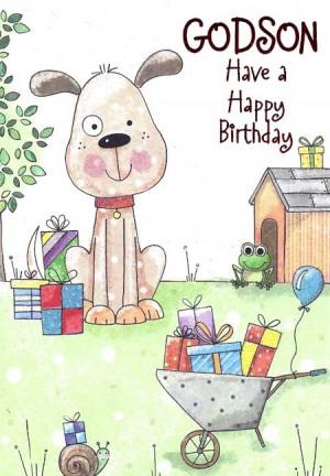 godson have a happy birthday dog