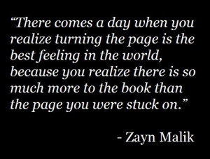 When you realize turning the page