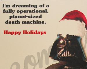 Star Wars Christmas card - Holiday card - Darth Vader - funny - geeky ...