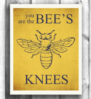 Bee Art Typographic poster Quote art, inspirational print, wall decor ...